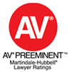 Martindale Hubbell AV Rated Attorney